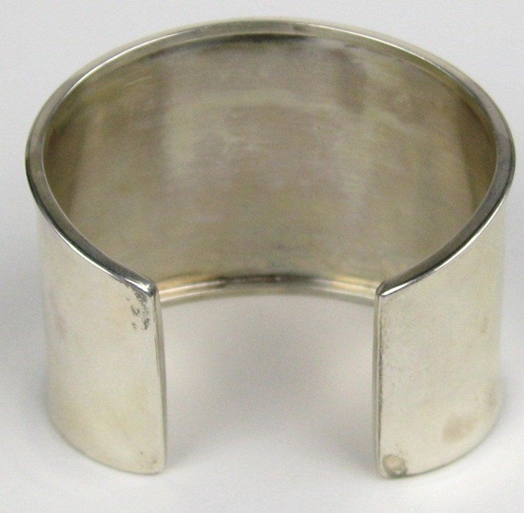 1990s Sterling Silver Carol Felley 3-D WOLF wide Cuff Bracelet Never worn  5