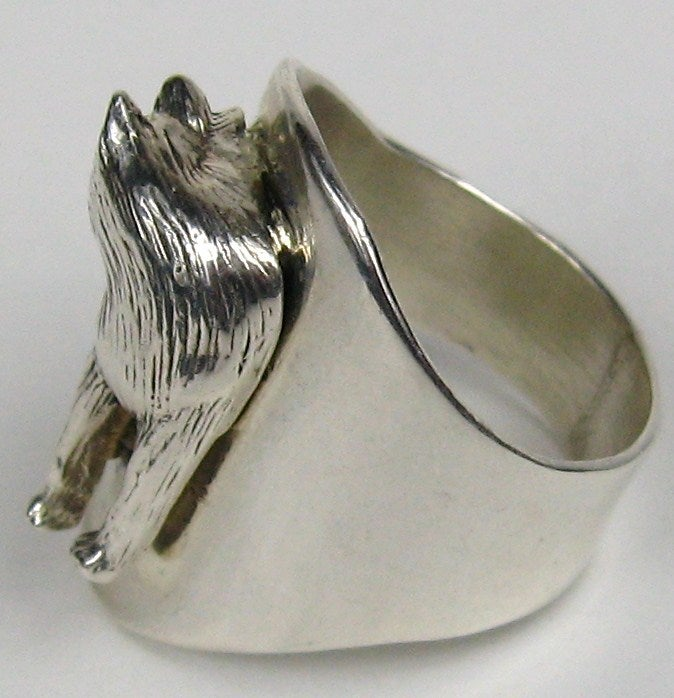 carol felley sterling silver wolf ring at 1stdibs