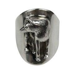 Carol Felley Sterling Silver WOLF Ring
