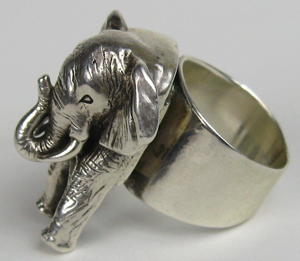 carol felley sterling silver elephant ring at 1stdibs