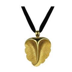 Never Worn 1980s Escada Gold Leaf Necklace
