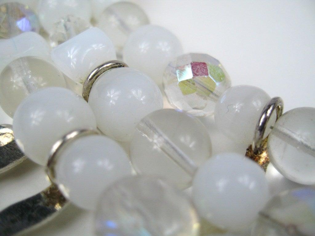 1990s Philippe Ferrandis Glass Choker Bib Necklace New Never worn  4