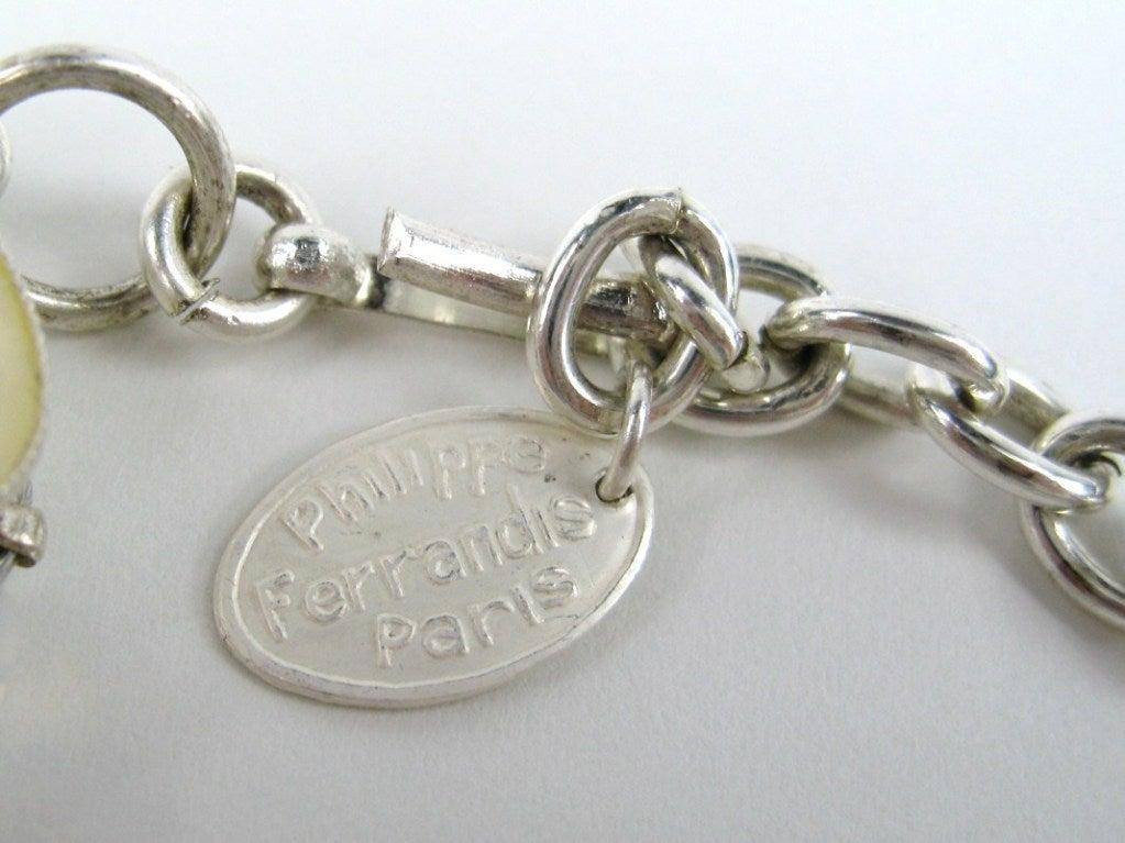 1990s Philippe Ferrandis Glass Choker Bib Necklace New Never worn  5