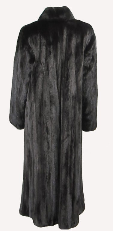 Women's Louis Feraud  Mink Fur Full Length Coat For Sale