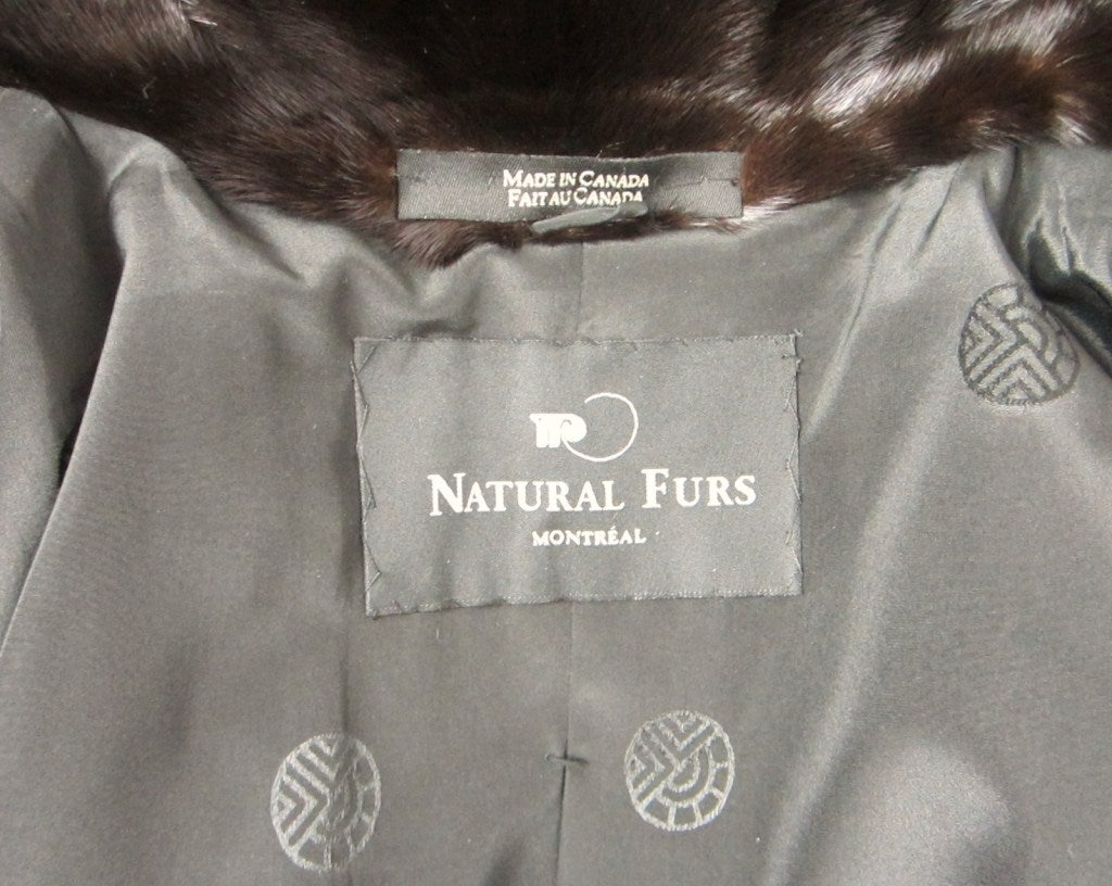 Louis Feraud  Mink Fur Full Length Coat For Sale 4