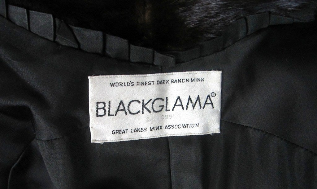 Pauline Trigere Blackglama Mink Trench Coat 3