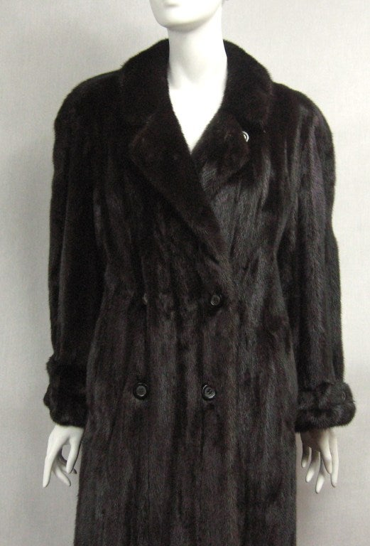 Pauline Trigere Blackglama Mink Trench Coat 4