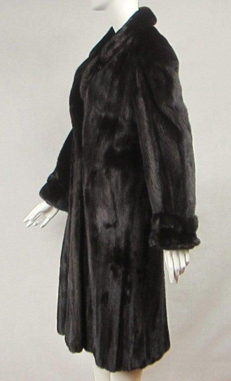 Pauline Trigere Blackglama Mink Trench Coat 5