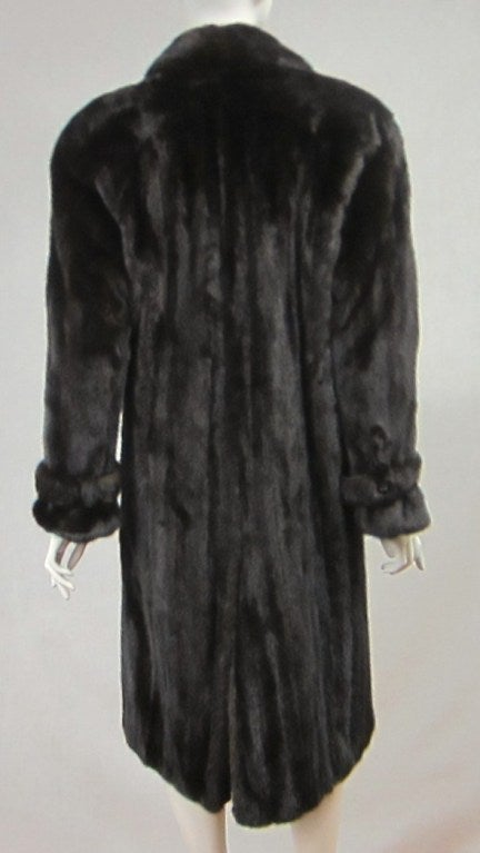 Pauline Trigere Blackglama Mink Trench Coat 6