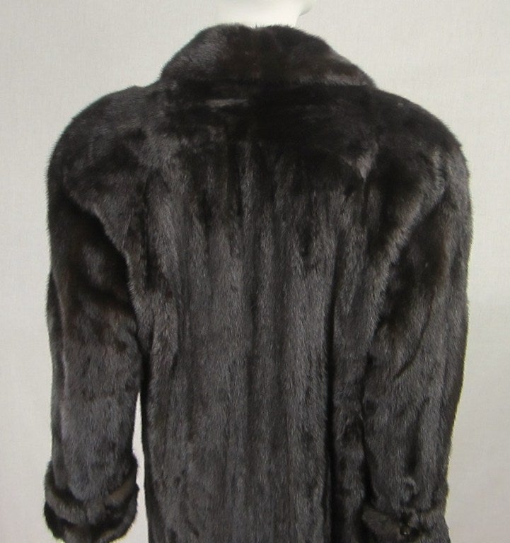 Pauline Trigere Blackglama Mink Trench Coat 7