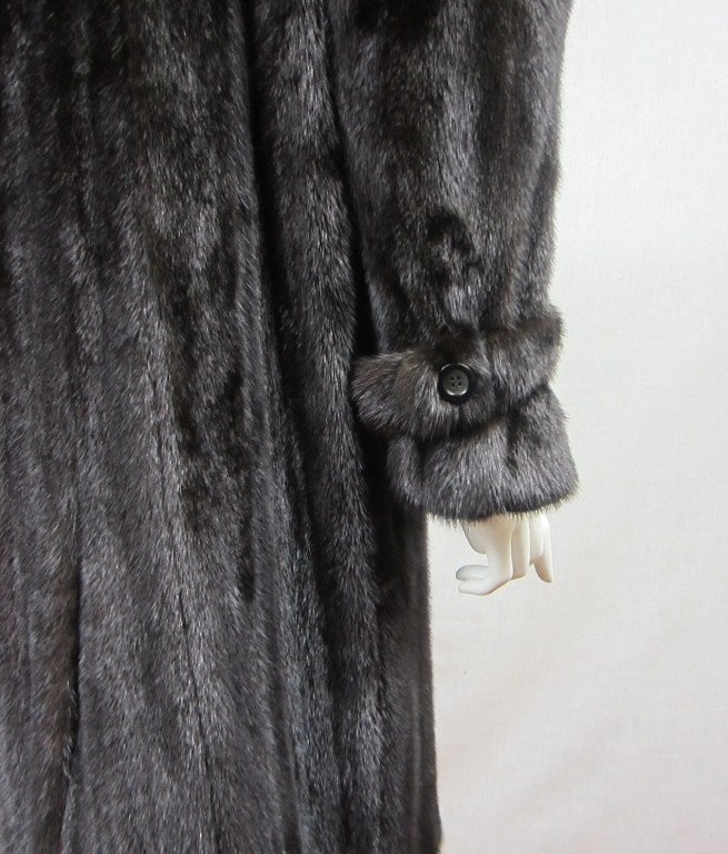 Pauline Trigere Blackglama Mink Trench Coat 8