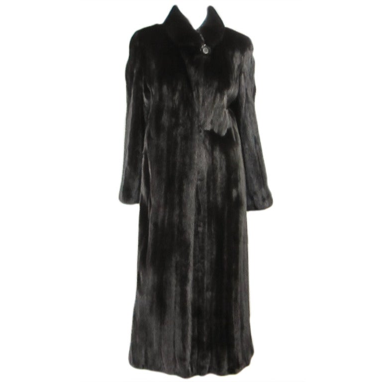 Louis Feraud  Mink Fur Full Length Coat For Sale