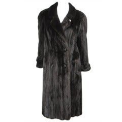 Pauline Trigere Blackglama Mink Trench Coat