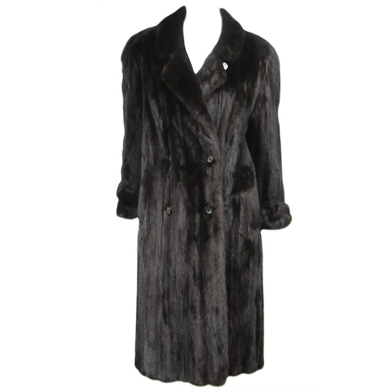 Pauline Trigere Blackglama Mink Trench Coat 1