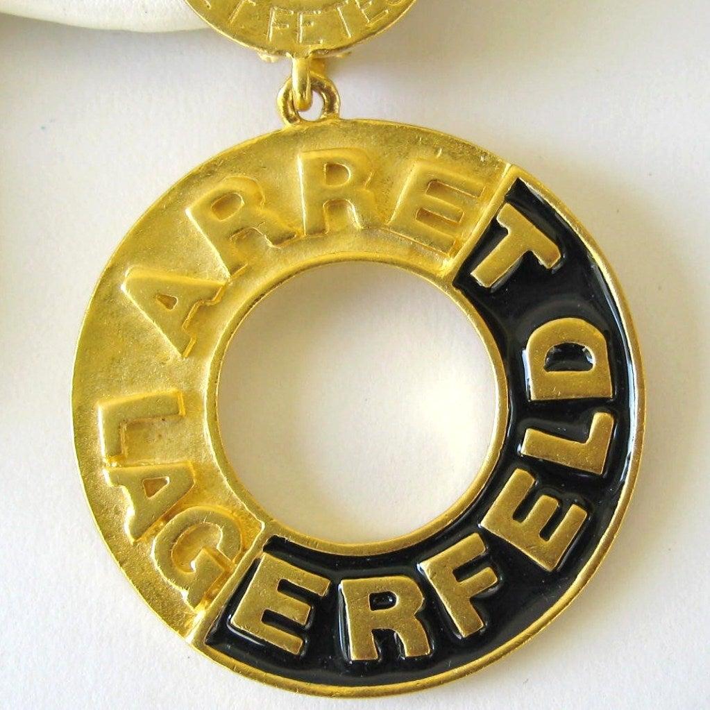 1990's Karl Lagerfeld 14 Blvd. De La Madeleine Couture Dangle Earrings 3