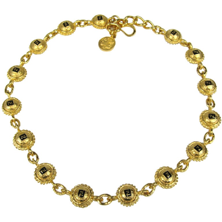 fendi necklace 80s at 1stdibs