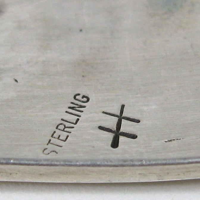 Wide Sterling Silver Southwestern Story Teller Bracelet For Sale 2