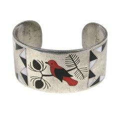Zuni Sterling Silver Cuff Bracelet, Albert & Dolly Banteah