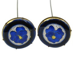 Victorian Enameled Pansy Hat pins