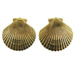 Yves Saint Laurent YSL Shell Earrings Never Worn