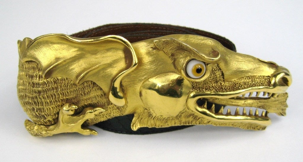 1980 Christopher Ross Dragon Belt And Buckle At 1stdibs