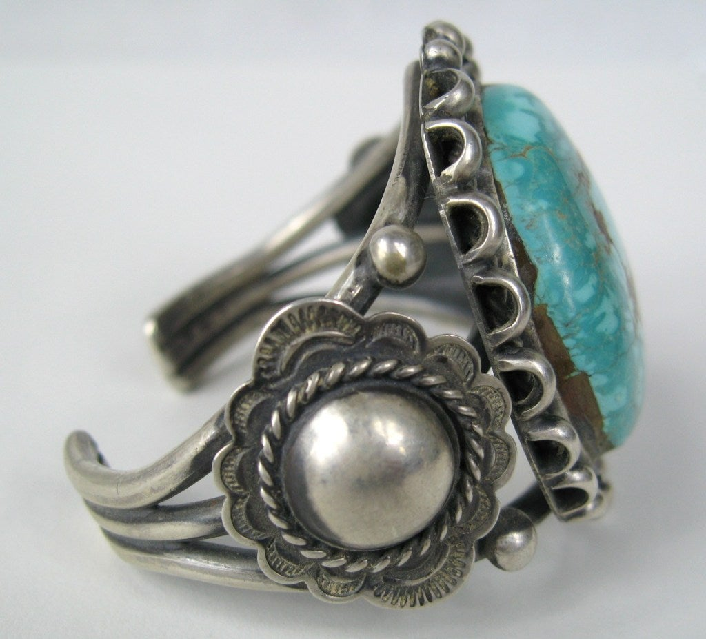 jewelry pawning navajo american sterling silver turquoise bracelet 435