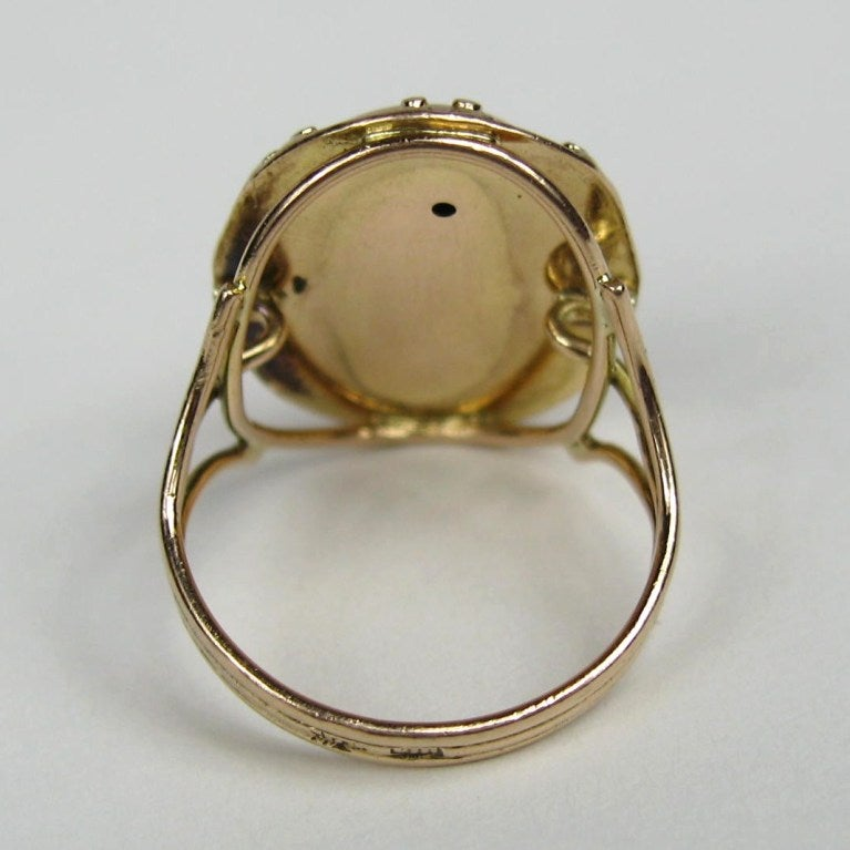 Mid Victorian Antique Garnet 14K Gold Ring 4