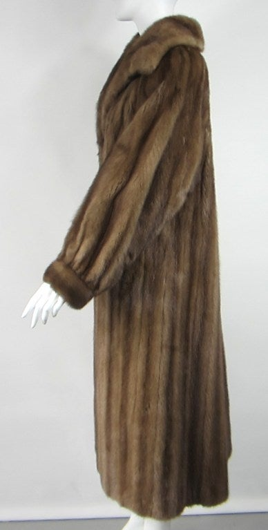Stunning Vintage Demi-buff Mink Fur Swing Coat 3
