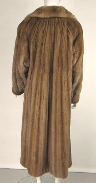 Stunning Vintage Demi-buff Mink Fur Swing Coat 4