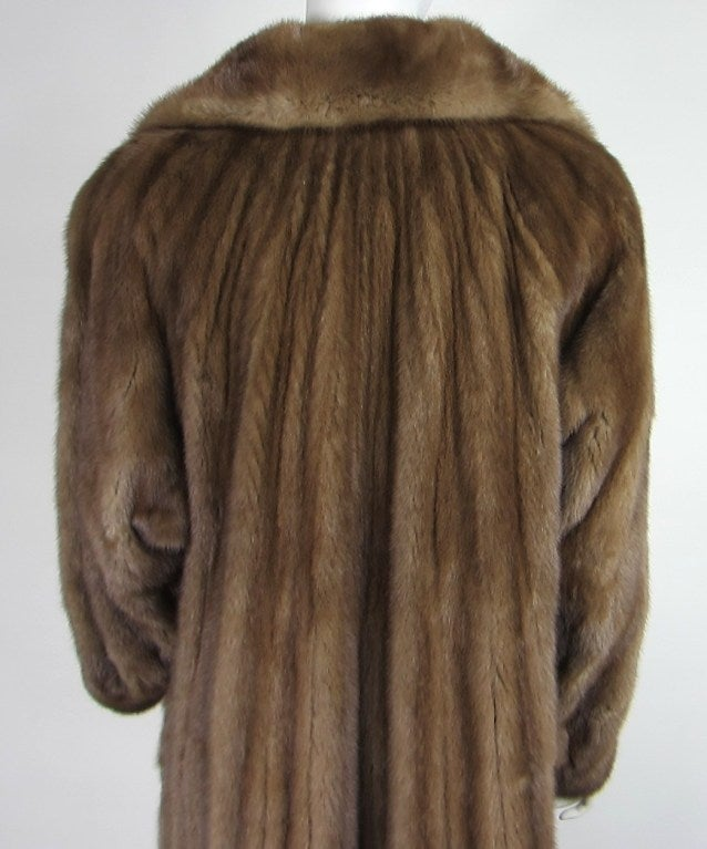 Stunning Vintage Demi-buff Mink Fur Swing Coat 5