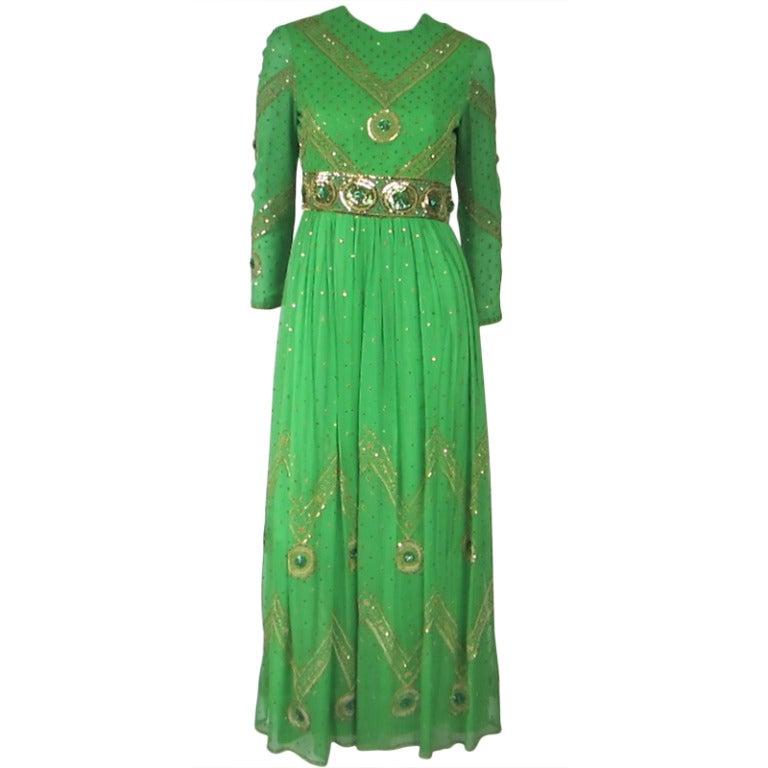 Saz Surjit And Adash Gill Silk Dress At 1stdibs