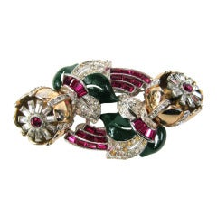 Coro Duette Brooch - Dress Clip 1938 by Gene Verrecchio