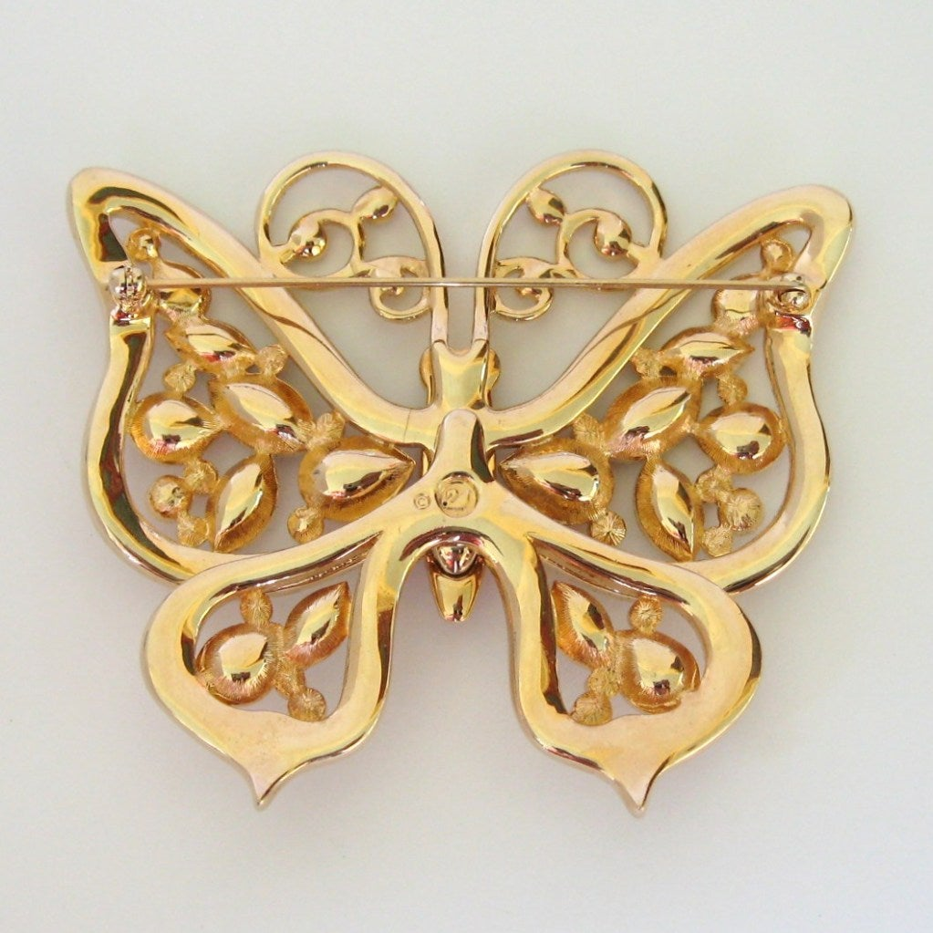 Swarovski Large Butterfly Pin Brooch Retired 4