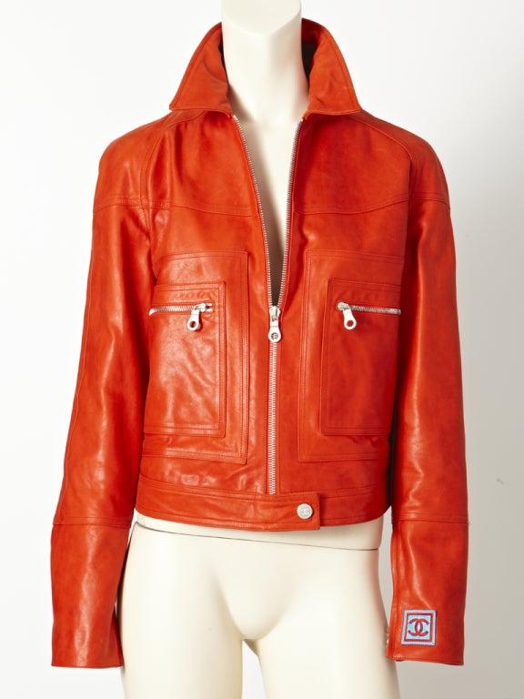 Chanel Leather Motorcycle  jacket 2