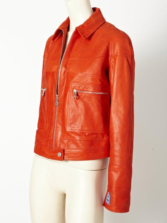 Chanel Leather Motorcycle  jacket 3