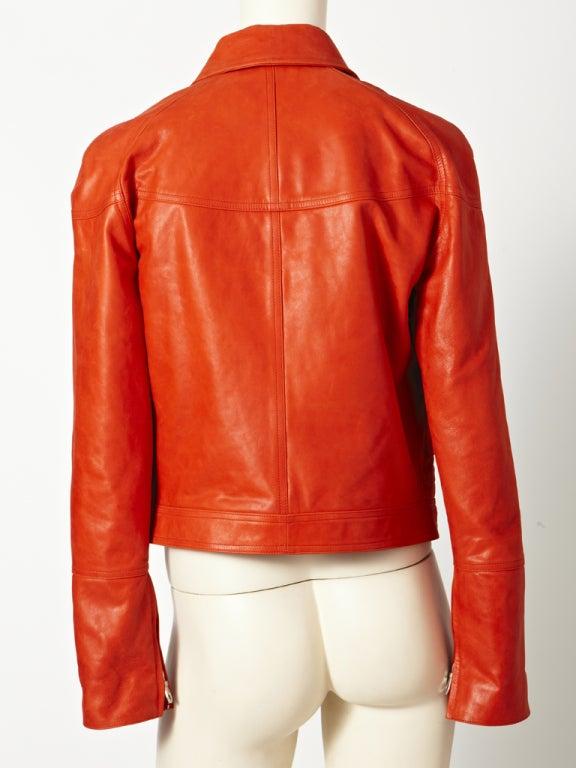 Chanel Leather Motorcycle  jacket 4