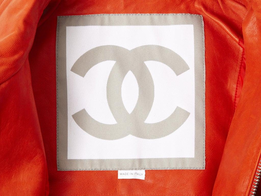 Chanel Leather Motorcycle  jacket 5