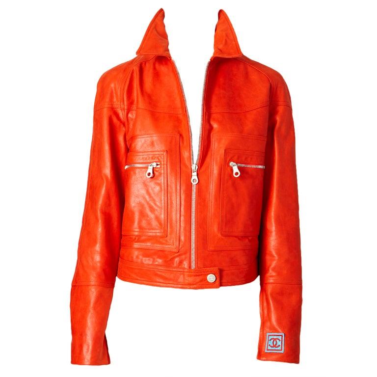 Chanel Leather Motorcycle  jacket 1