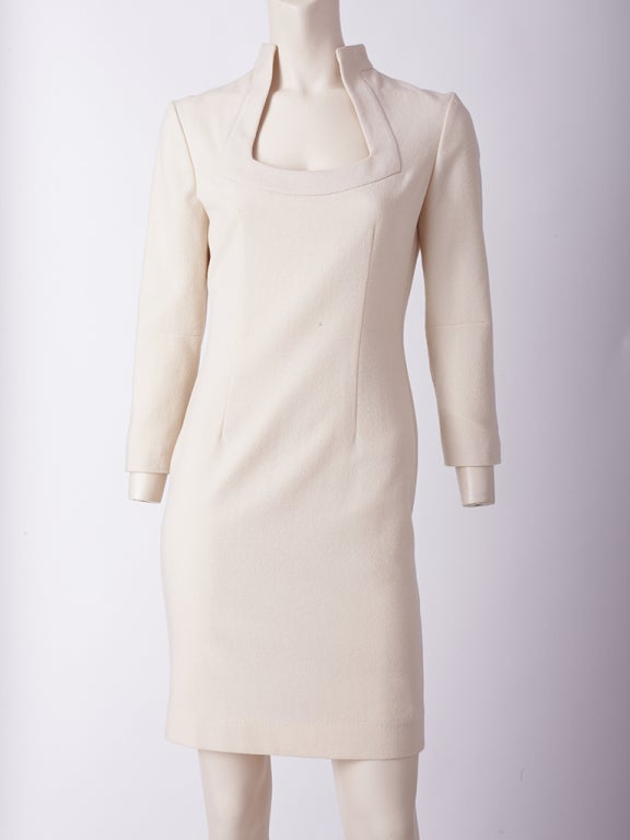 Alexander McQueen ivory Wool Dress 2