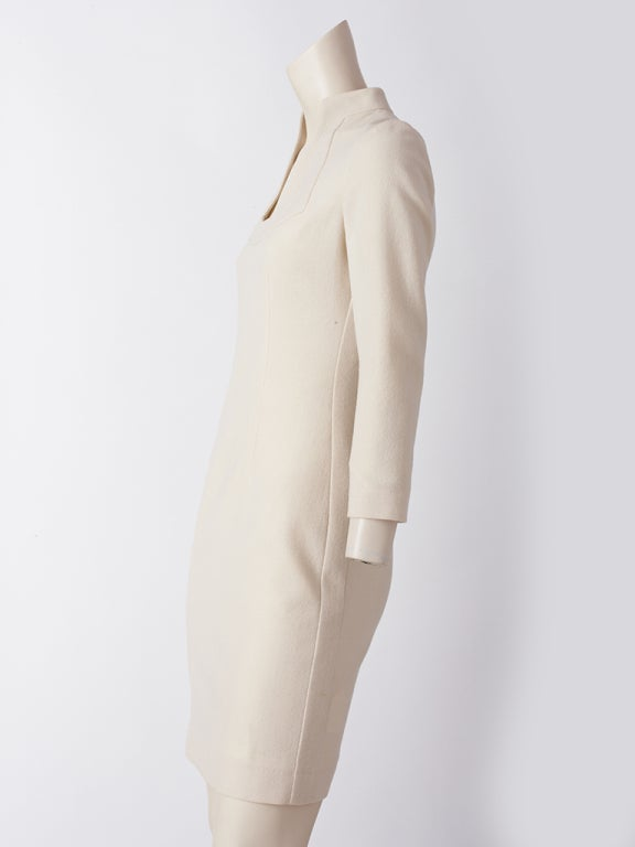 Alexander McQueen ivory Wool Dress 3