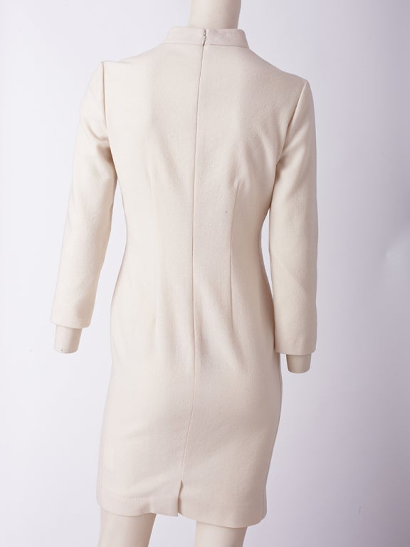 Alexander McQueen ivory Wool Dress 4