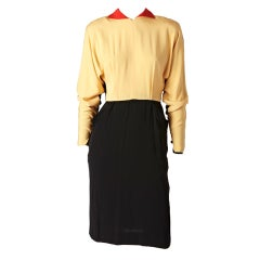 Fernando Sanchez Color Block Dress