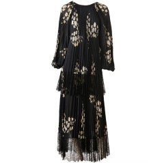 Andre Laug Tiered Pleated Dress