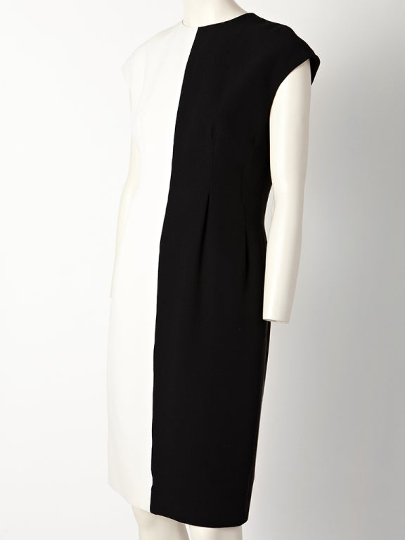 Geoffrey Beene Silk Crepe Black and White Dress 2