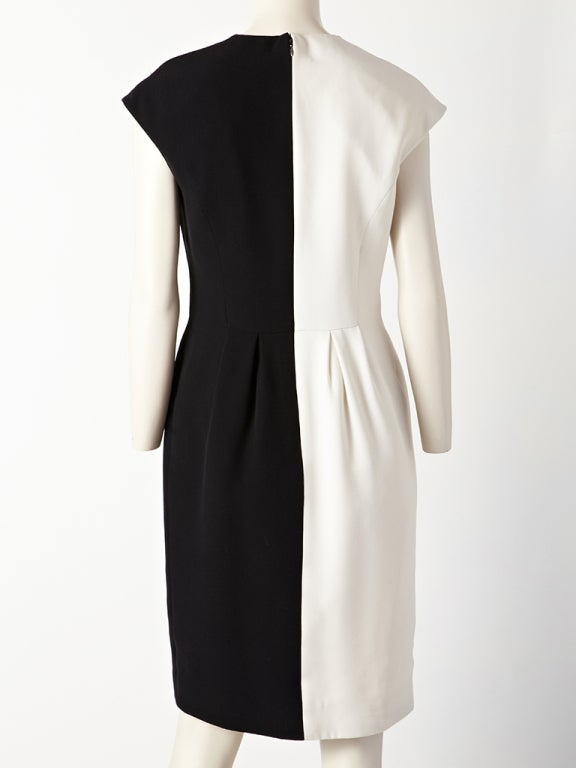 Geoffrey Beene Silk Crepe Black and White Dress 3