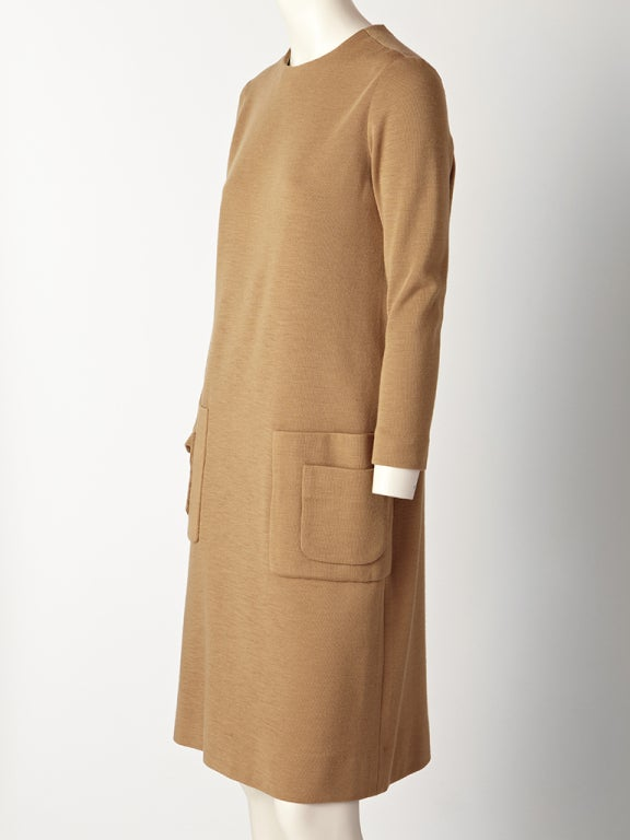 Norman Norell Wool Knit Day Dress 2