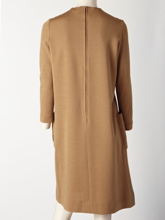 Norman Norell Wool Knit Day Dress 3