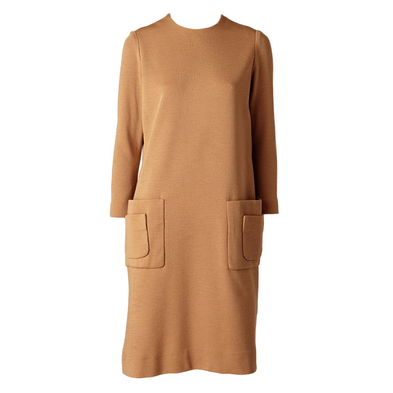 Norman Norell Wool Knit Day Dress 1
