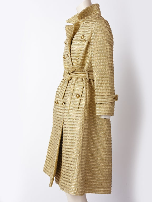 Gold Lurex 60's Trench image 2
