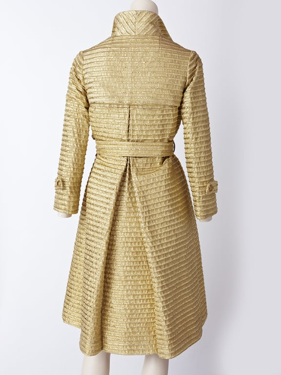 Gold Lurex 60's Trench image 3